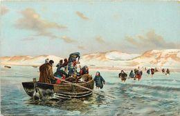 Themes Div - Ref T717 - Illustrateurs - Illustrateur Francis Tattegrain - Arts - Tableaux - Peinture - Peintre Marine - - Paintings