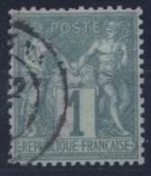 France - Type Sage N°61 (type I - N/B) Oblitéré - TB - Cote 125€ - (F189) - 1876-1878 Sage (Typ I)