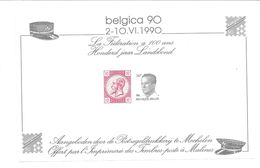 1990 Honderd Jaar Landsverbond Mechelen 10+14 Frank - Cartes Souvenir
