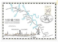 1990  Europese  Postverbindingen  14 Frank 14920-1990 Mechelen - Erinnerungskarten