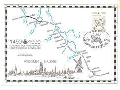 1990  Europese  Postverbindingen  14 Frank 14920-1990 Mechelen - Cartes Souvenir