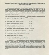 CEYLON NUMBERAL CANCELS 52 TO 93 POSTAL STATIONERY - Ceylon (...-1947)