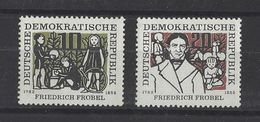 ALLEMAGNE ORIENTALE . YT 289/290 Neuf ** 175e Anniversaire De La Naissance Du Savant Pédagogue Friedrich Fröbel 1957 - Ungebraucht