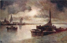 Themes Div - Ref T684 - Illustrateurs - Illustrateur Raphael Tuck - Arts - Tableaux - Peinture - Peintre - Marine - - Tuck, Raphael