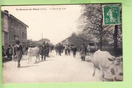 SAINT BONNET DE MURE - Route De LYON  - Superbe Plan Animé  Avec Vacher Et Ses Vaches - 2 Scans - Frankrijk