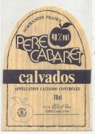 - étiquette   - Pere Cabaret Calvados - Whisky