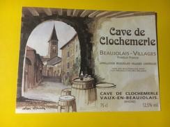 4392 - Cave De Clochemerle Beaujolais Villages 2 étiquettes - Beaujolais