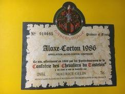 4397 - Aloxe-Corton 1986 Confrérie Des Chevaliers Du Tastevin - Bourgogne