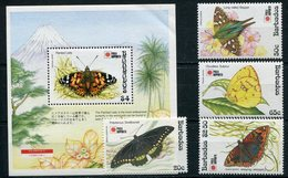1991- BARBADOS -BUTTERFLYES - 4 VAL.+ S.S.  -M.N.H.- LUXE !! - Barbados (1966-...)