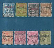 Colonie  Timbre D´Alexandrie De 1899/1900  Type Sage  N°9 A 16 Oblitérés ( N°10 Neuf *) Cote 133,50€ - Alexandria (1899-1931)