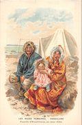 ¤¤  -   Carte Publicitaire     -  Les Race Humaines  -  GROENLAND  -  Famille D'Esquimaux    -  ¤¤ - Danemark