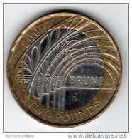 GB UK : 2 Pounds 2006 : Commémorative BRUNEL : BIMETAL QEII - 1971-… : Monnaies Décimales