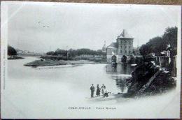 08 J CHARLEVILLE   VIEUX MOULIN BLE FARINE CARTE 1900 - Charleville
