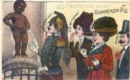 Fantaisie - Les Francais Devant Le Manneken-pis - Illustrateur - Bébés