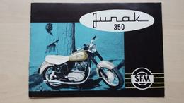 BROCHURE JUNAK 350- POLISH MOTORCYCLE - Motorräder