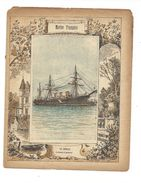 Marine Française Le Cecille Protège-cahier Couverture De Cahier Fin XIX  Didactique Au Dos. Etat Moyen Mais RR. - Transports