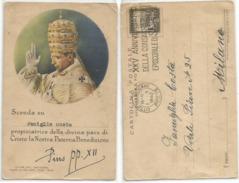Vaticano Cartolina Benedizione Papa Pio XII 6dic1942 Con C25 Targhetta XXV Consacrazione Episcopale - Vatican