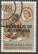 Botswana. 1966 Stamps Of Bechuanaland O/P. 20c Used SG 214 - Botswana (1966-...)
