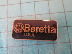 Pin1917 Pin's Pins / THEME MARQUES : MARQUE BERETTA USA ARMES ? ; Rare Et De Belle Qualité - Trademarks