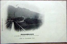 08 GARE DE MONTHERME ENTREE DU TUNNEL DES QUATRE FILS AYMON CARTE 1900 - Montherme