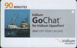 Iridium OpenPort Off-peak Calling Card, 90 Minutes, Sample Card - Unknown Origin