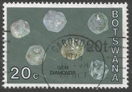 Botswana. 1976 Botswana Minerals. Surcharge. 20t On 20c Used SG 375 - Botswana (1966-...)