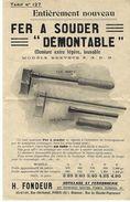 1912 PUBLICITE HENRY FONDEUR OUTILLAGE MACHINES FERRONNERIE CONSTRUCTEUR MECANICIEN à PARIS B.E. V.SCANS - France