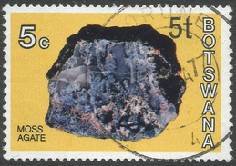 Botswana. 1976 Botswana Minerals. Surcharge. 5t On 5c Used SG 371 - Botswana (1966-...)