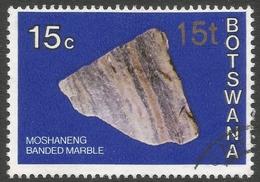 Botswana. 1976 Botswana Minerals. Surcharge. 15t On 15c Used SG 374 - Botswana (1966-...)
