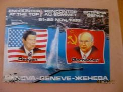 Suisse: Carte Postale éditée à L'occasion De La Rencontre Reagan-Gorbatchev 21-22 Novembre 1985 - GE Ginevra