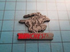 Pin316a Pin's Pins / WESTERN COW-BOY ARME WINCHESTER CHEVAL  EQUITATION OU LASAGNES ?    ;   Belle Qualité !!!   Marquag - Animaux