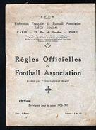 FOOTBALL, 1931, REGLES OFFICIELLES DU FOOTBALL ASSOCIATION, 1930-1931, FFFA - Sport