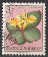 275 Congo Belga 1952 Fiori Flowers COSTUS Belge Belgisch Used - Congo Belge
