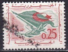 Algeria, 1963 - 25c Flag, Rifle, Olive Branch - Nr.296 Usato° - Algeria (1962-...)