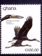Ghana 1991 MNH, Water Birds, Opened Billed Stork - Cigognes & échassiers