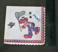 Clown Circus, BUTTERFLY & NET, Papillon Et Mouche - Paper Napkins (decorated)