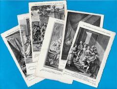 CPA (Lot De 6) LES MAÎTRES De L' ESTAMPE Au XVIII E Siècle * Gravure - Schöne Künste