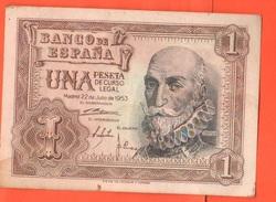 Spain Spagna 1 Peseta1953 - [ 3] 1936-1975 : Regime Di Franco