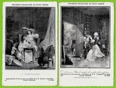 CPA (Lot De 2) ESTAMPES FRANCAISES Au XVIII E Siècle * Gravure - Schöne Künste