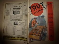 1949 Tout Le Système D  (TLSD) :Faire :du CARTON-PIERRE;..une Pièce Habitable Dans Votre Grenier;..JEU De Fléchettes;et - Bricolage / Technique