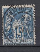 Frankreich 15 C Allegorie 1892 - Zentrisch 2-Kreis Gestempelt - 1876-1898 Sage (Type II)