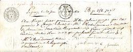 43.LE PUY.07 LA BEGUDE DE MERCUER.LETTRE DE CHANGE DE 1820. - Bills Of Exchange