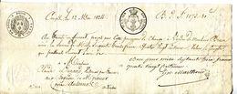 07.COMPS.07 LA BEGUDE DE VALS.LETTRE DE CHANGE DE 1824. - Bills Of Exchange