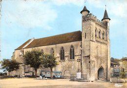 47-MONFLANQUIN- L'EGLISE ST ANDRE ET PLACE DU CAP DEL PECH - Monflanquin