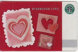 "CANADA - Happy Valentine""s Day, Starbucks Card, CN : 6065, Unused - Gift Cards"