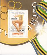 1988 Tanzania Seoul Olympics Souvenir Sheet - Gymnastics - Tanzania (1964-...)