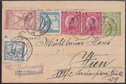 Kingdom, Postcard, Uprated, Mixed Franking With Chainbreakers, From Dubrovnik, Slight Crease - 1919-1929 Königreich Der Serben, Kroaten & Slowenen