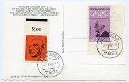 ALLEMAGNE : UHLINGEN - GASTHAUS POSTHORN / STAMP & POSTMARK - OLYMPISCHE SPIELE 1968 - Waldshut-Tiengen