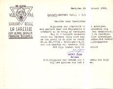 Verklaring Militair Origineel Document VGL - Schuiloord La Sarcelle - Beuters W.  Gent 1948 Oorlog 1940 - 1945 - Documents