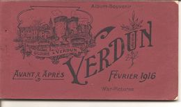 VERDUN  Avant & Aprés Fevrier 1916 Carnet De 20 CPA - Guerre 1914-18